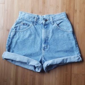 Lee Vintage High-waisted Denim Shorts